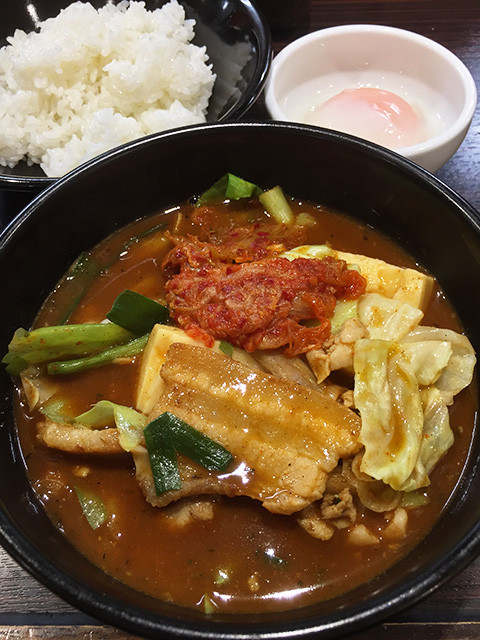 Kimchi-Stew Type Curry Soup