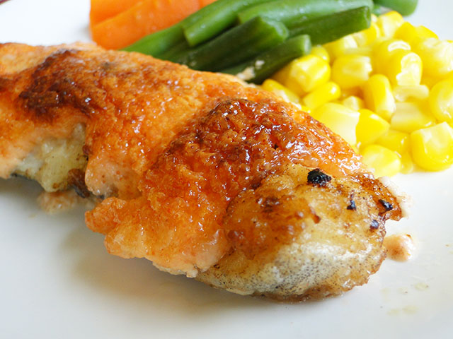Grilled Cod with Mayonnaise Sauce