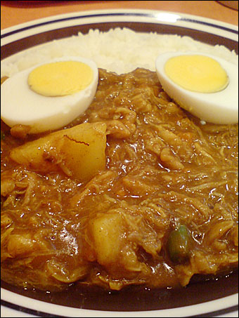 Double Stewed Chicken Curry with Vegetables and Boiled Egg