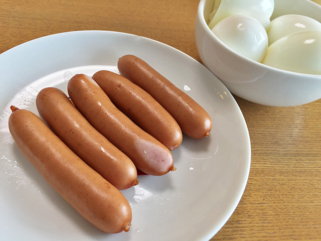 Sausages and Hard-Boiled Eggs