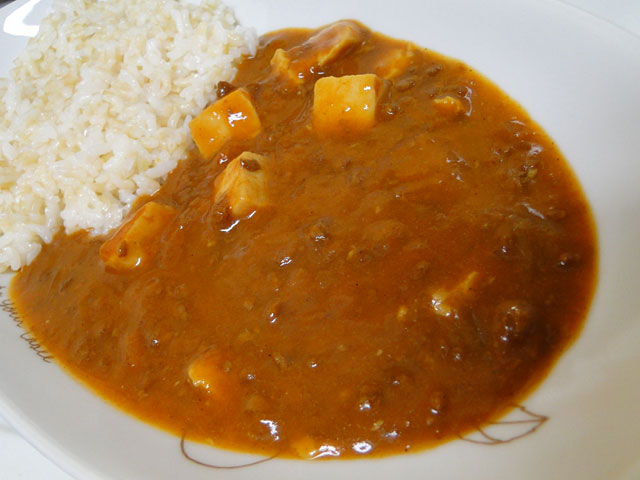 Mabo Curry with Sprouted Brown Rice
