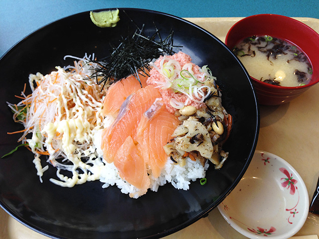 Salmon and Minced Tuna Rice Bowl