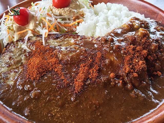 Curry Burg Dish with Original Spice