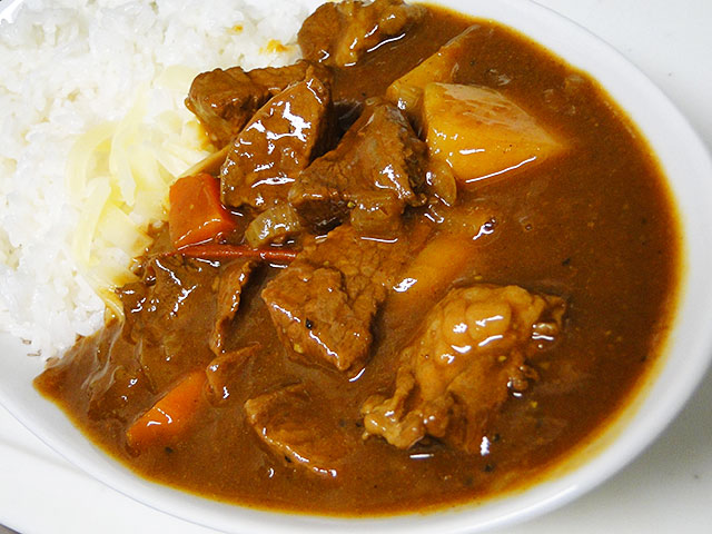 Homemade Beef Curry with Cheese