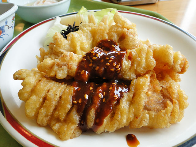 Pork Tempura with Sesame and Miso Sauce