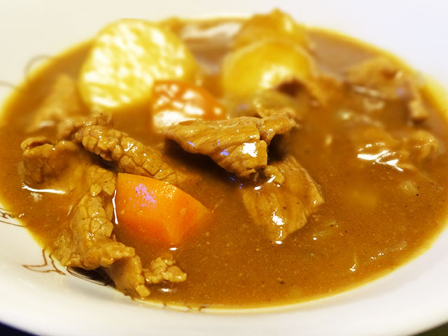 Homemade Low Fat Beef Curry