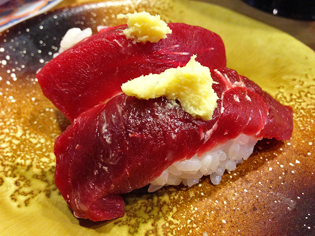 Whale Meat Nigiri Sushi
