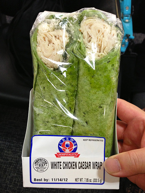 White Chicken Caesar Wrap