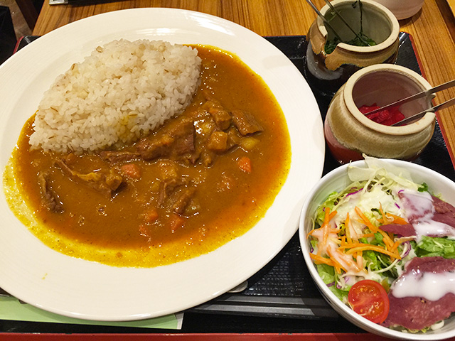 Stomach-Friendly Morning Ox Tongue Curry Set Meal