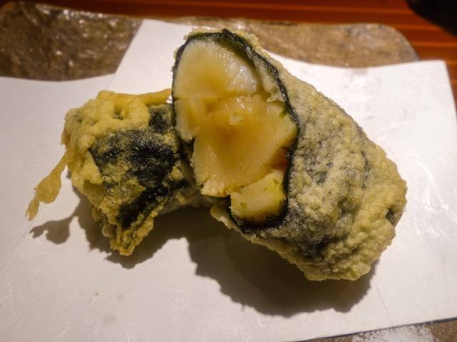 小柱海苔巻きの天ぷら 3_edit