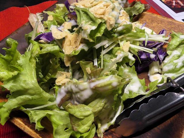朝摘み緑野菜のウッドボウルサラダ_edit