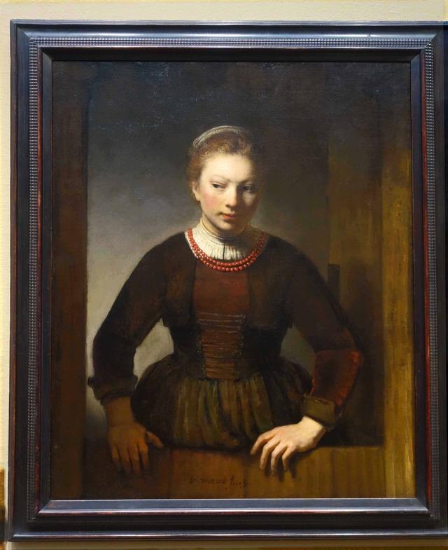 レンブラント 『Young Woman at an Open Half Door』 2_edit