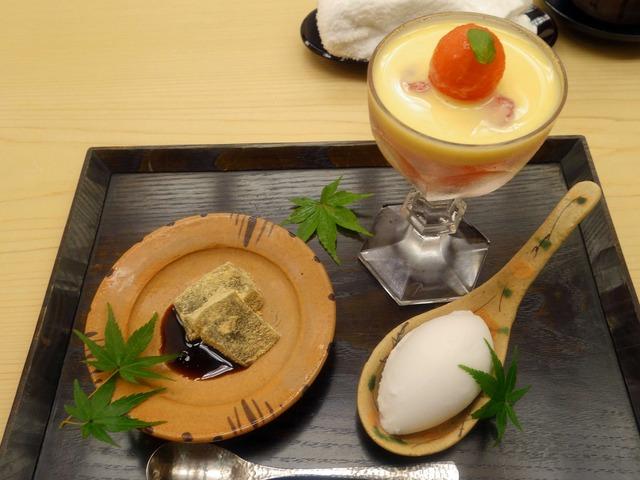 スイカのゼリーよせ,ココナッツアイス,わらび餅_edit