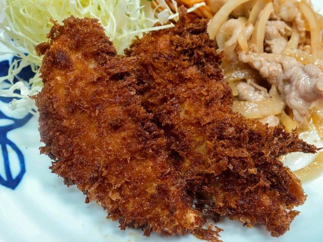 ヒラメフライ&豚しょうが焼 2_edit