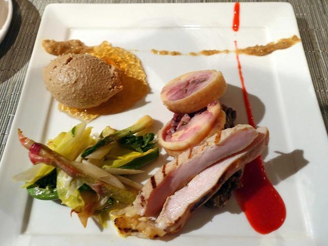 比内地鶏と山菜のサラダ 1_edit