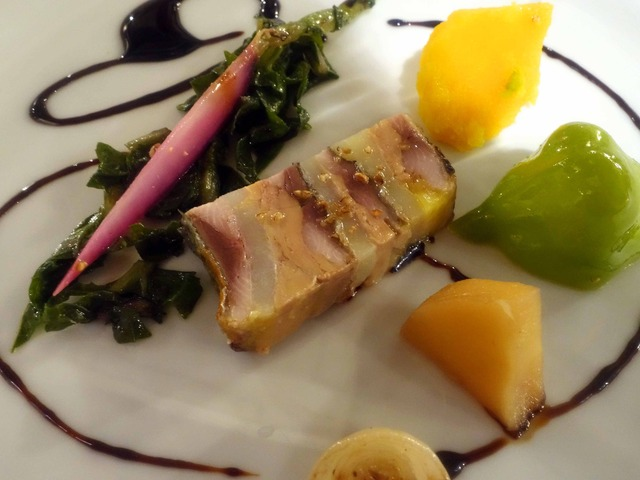 秋刀魚とフォアグラ,ジャガイモグラタンのテリーヌ 6_edit