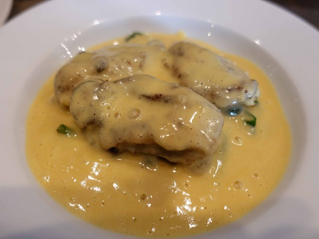 牡蠣のムニエル,シャンパンソース 1_edit
