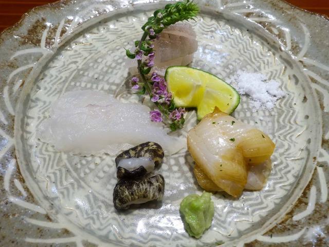 お造り(マコガレイ,オコゼ,漬け穴子) 1_edit