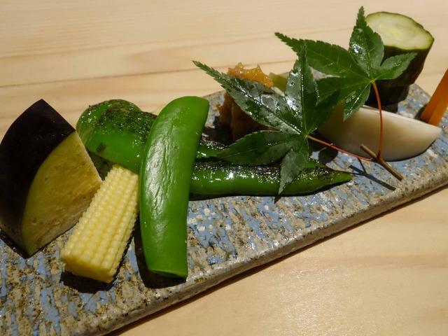 前菜(生野菜,お新香,肉味噌) 2_edit