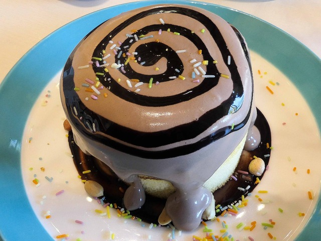 切り株チョコレートケーキ 2_edit