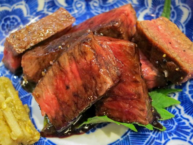牛肉のステーキ,ゴボウの胡麻酢和え 3_edit
