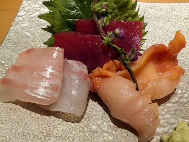 お造り(赤身,赤貝,真鯛) 2_edit
