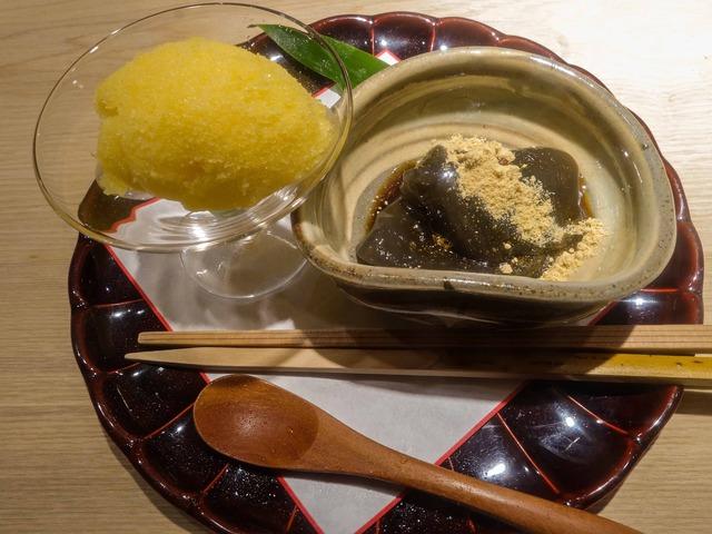 甘味(甘夏のアイス,わらび餅) 1_edit
