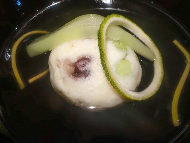萩の真薯,輪柚子,蓮芋,じゅんさいソーメンのお椀 3_edit
