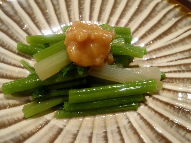 アイコ山菜浸し 肉味噌添え_edit