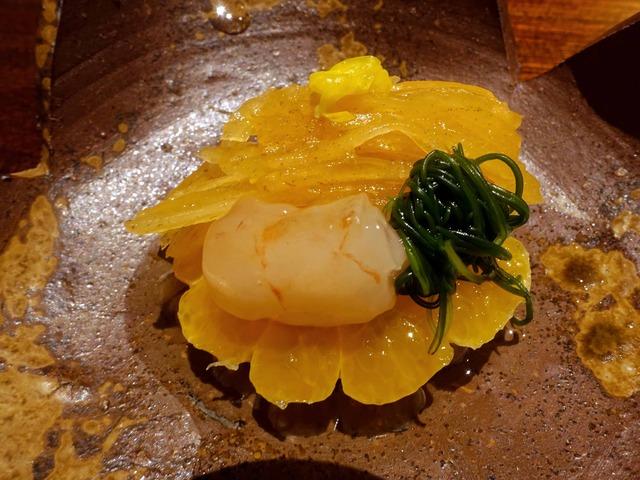 甘エビ,菊花,柿なます,オカヒジキ,みかん 3_edit