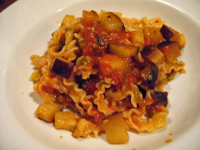 米茄子と実山椒のトマトソースレジネッテ_edit
