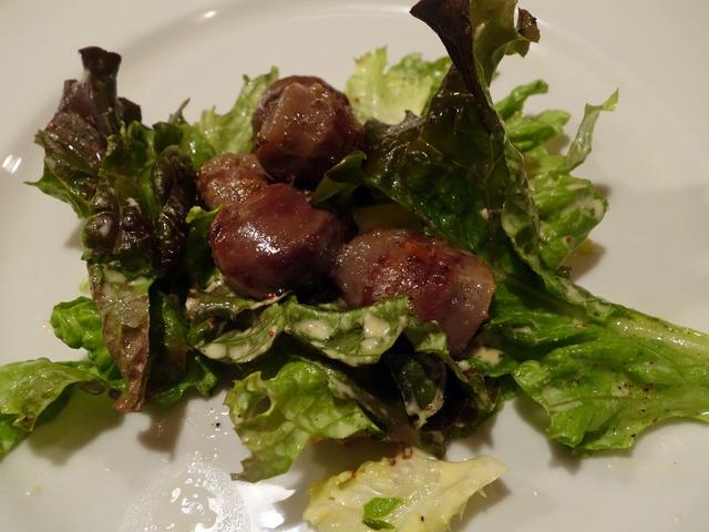 鴨の砂肝のコンフィ,マスタードサラダ仕立て 1_edit