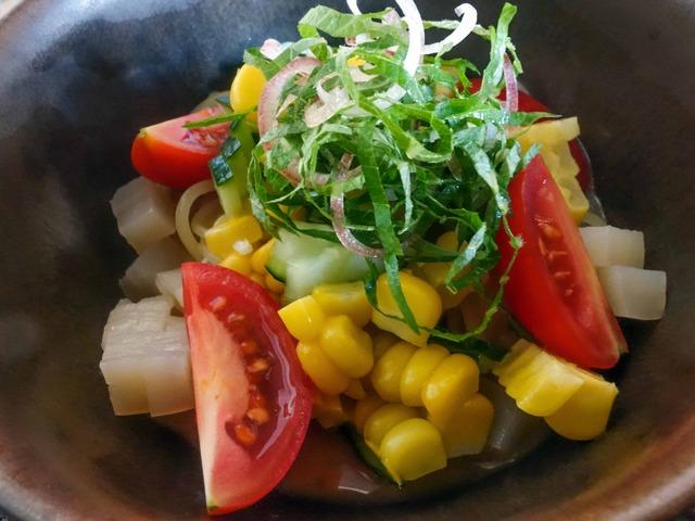 夏野菜と薬味たっぷりの冷やし涼麺 2_edit