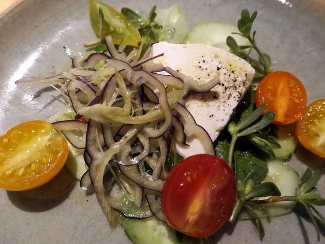 フレッシュリコッタチーズ,紫蘇とトマトのサラダ 4_edit