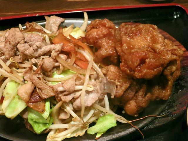 肉野菜炒め・とり唐セット 4_edit