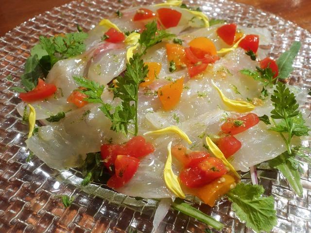 昆布〆真鯛のカルパッチョ,へべすの香り 1_edit