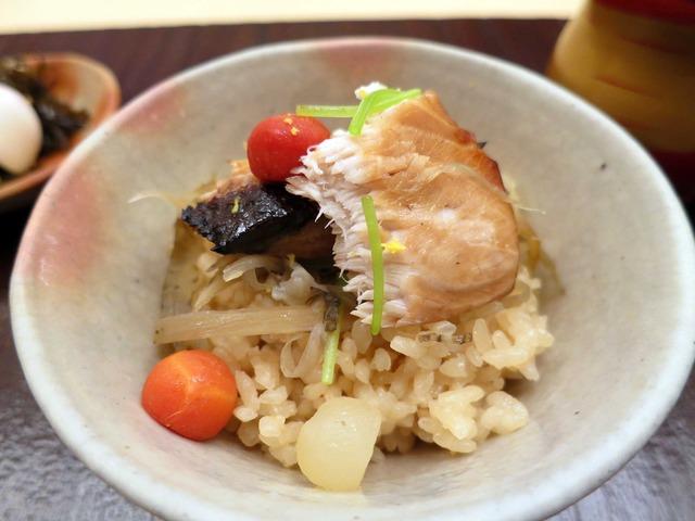 寒ブリとゴボウの炊き込みご飯 3_edit