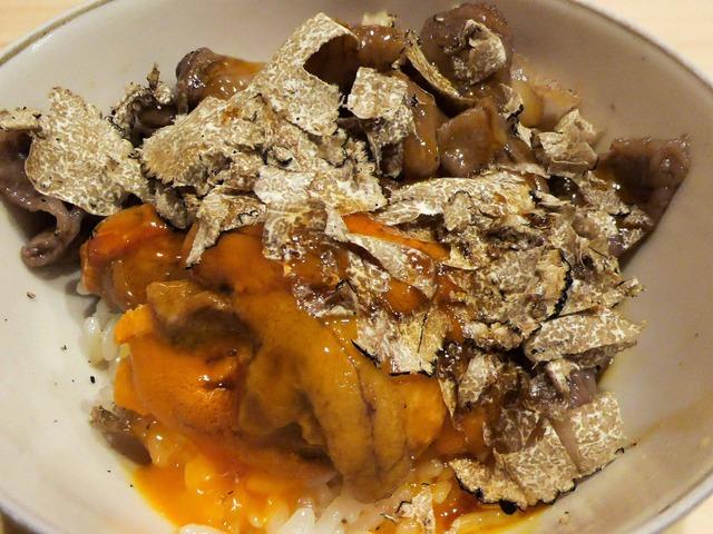 トリュフご飯,ウニ,牛肉,卵黄 2_edit