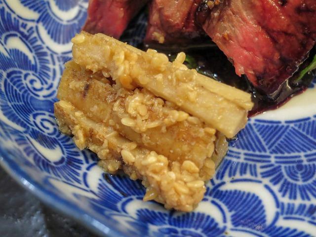 牛肉のステーキ,ゴボウの胡麻酢和え 4_edit
