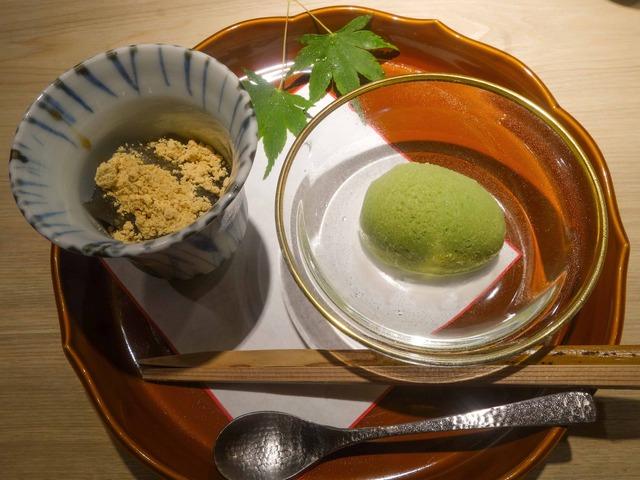 甘味(わらび餅,抹茶のアイス)_edit