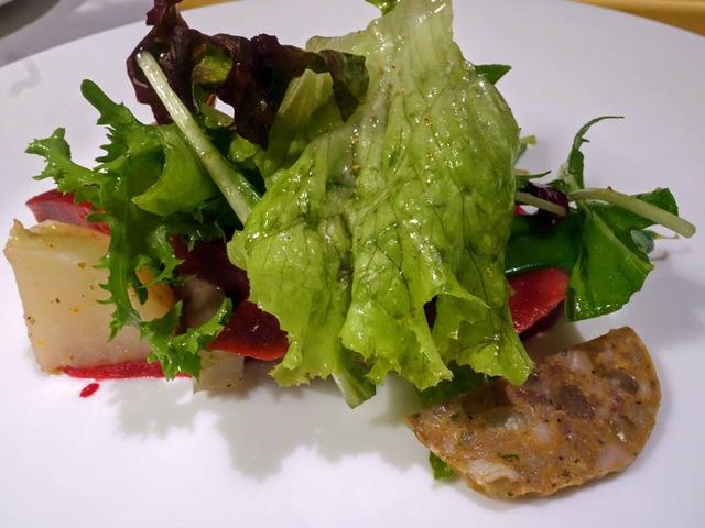 農家直送オーガニック野菜のサラダ,自家製サラミ添え 4_edit