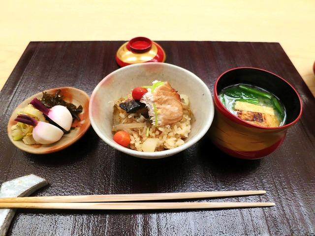 寒ブリとゴボウの炊き込みご飯 2_edit 2