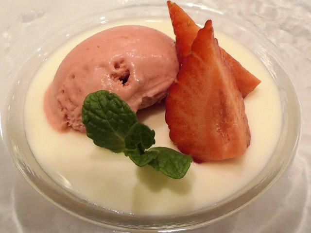 杏仁豆腐,イチゴアイス,あまおう 2_edit