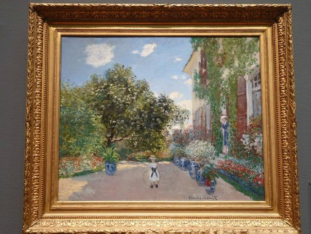 モネ 『アルジャントゥイユの画家の家』 3_edit