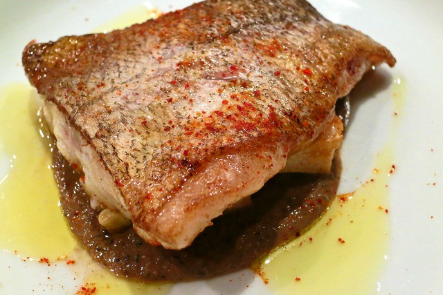 真鱈のロースト タケノコのフリット タプナード添え 2_edit