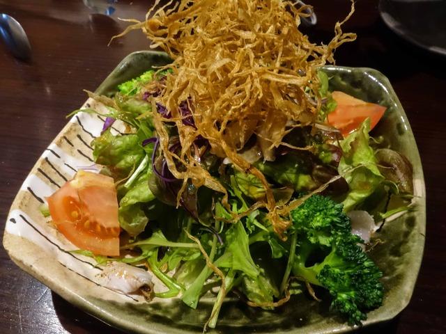 穴子と牛蒡チップのサラダ(ハーフ) 1_edit