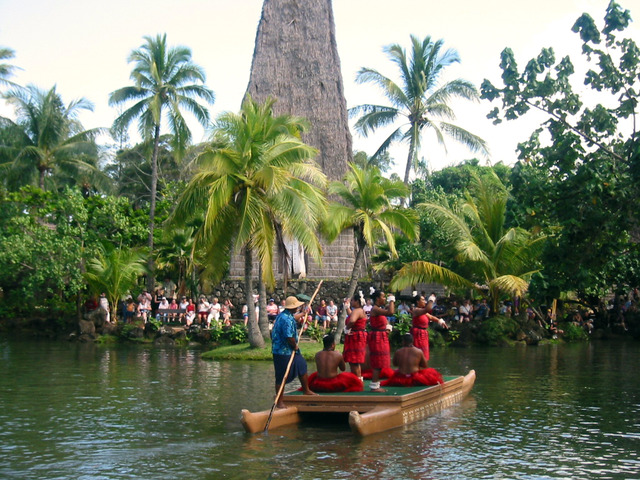 Polynesian Cultural Center・カヌー・ページェント 3_edit