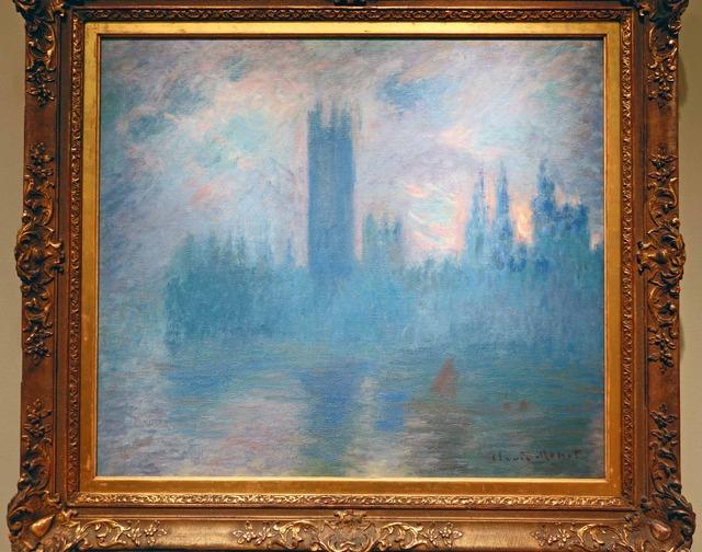 モネ 『ロンドンの国会議事堂』 2_edit