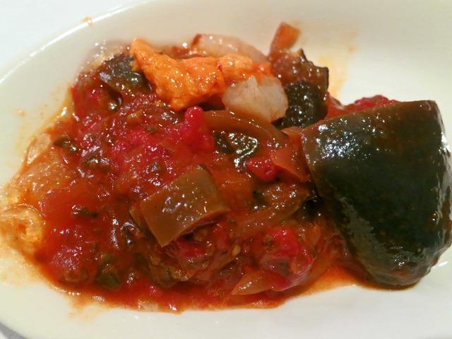 無農薬茄子のカポナータ ウニとホタテ添え トマトのジュレ 4_edit