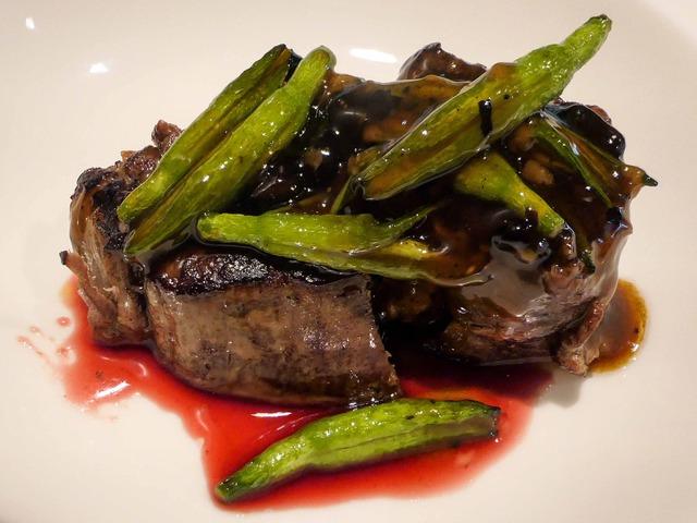 ニュージーランド産牛ヒレ肉と金針菜の豆豉ソース炒め 2_edit